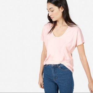Everlane pink u-neck tee